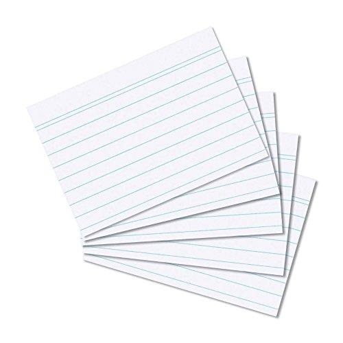 Herlitz 10621464 Karteikarte A8, 100 Stück eingeschweißt mit Aufreißfaden, liniert weiß