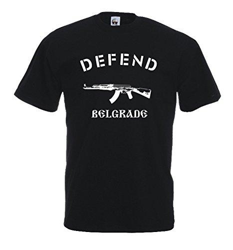 Settantallora - T-shirt Maglietta J502 Defend Belgrade Taglia XL