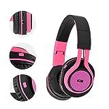 Over Ear Kopfhrer Bluetooth Kopfhörer Kabellos Sport Stereo FM/Aux-in/TF Headset AP-B04 Schwarz/Pink Kristallklar Bass