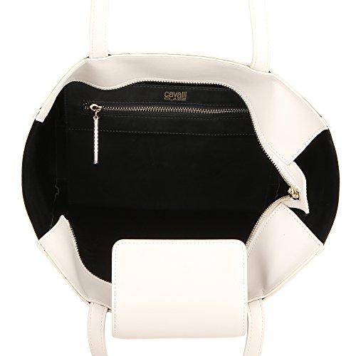 Roberto Cavalli Class Frau Handtasche 37x35x12 Cm Mod. C61PWCIX0042011 Optisches Weiß
