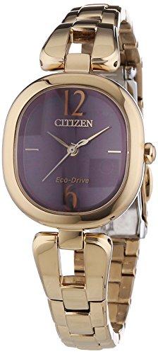 Citizen  EM0187-57W – Reloj de cuarzo para mujer, con correa de acero inoxidable, color dorado