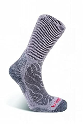 Bridgedale Merinofusion Trail Walking Socks L Gris - Gris