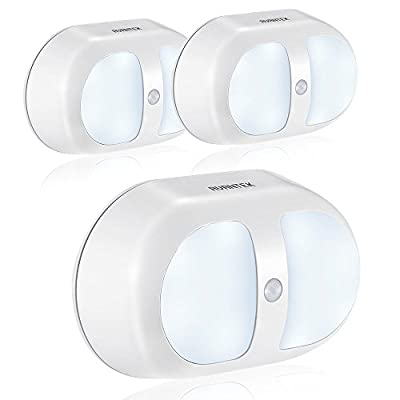 AVANTEK Motion Activated Night Lights Wall Lights with 10 LED, Battery Operated, Dual Sensor, 3-Pack - low-cost UK light shop.