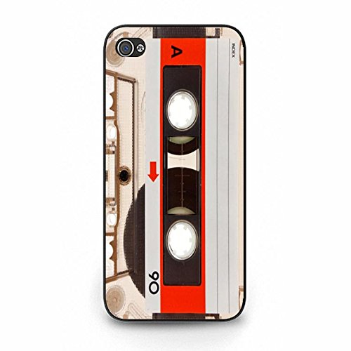 Iphone 5/5s Magnetic Tape Shell Cover,Personality Cusom Music Tapes Phone Case Cover for Iphone 5/5s Cassettes Cool Color127d