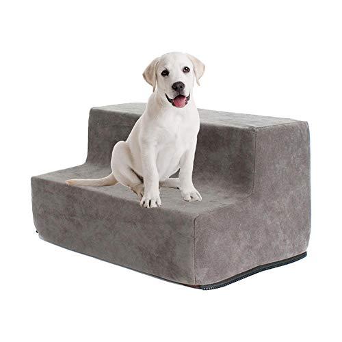 Chengstore Easy Step/Pet Stairs, 2-3 Step Für Katzen/Hunde Bis 70 Pfund, Tragbare, Abnehmbare Waschbare Teppichlauffläche/Hunderampe/Hundetreppe/Hundestufe Fürs Bett