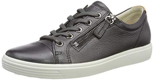 ECCO Damen Soft 7 Ladies Sneaker, Grau (Black Dark Shadow Metallic 51383), 37 EU -