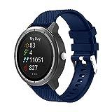 METEQI Correa Compatible con Garmin Vivoactive 3,Correa Reloj Silicona Suave Ajustable 20mm para Garmin Vivoactive 3/Forerunner 645 Música/Samsung Galaxy 42mm (Azul medianoche)