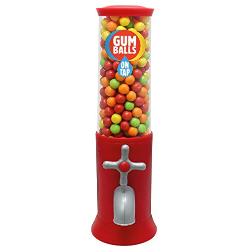 Retro Style Upright Red gefüllter Kaugummi Gumball Maschine auf Tap - - Maschinen Gumball