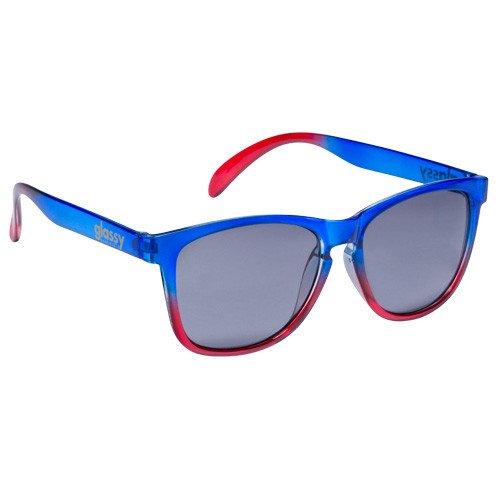 GlassY Morrison Sonnenbrille - black blue/mirror polarized