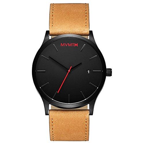 MVMT Herren Analog Quarz Uhr mit Leder Armband D-L213.5L.351