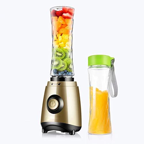 WODEQ Mini Batidora, Licuadora de Vaso con 4 Cuchillas 500ML Juicer Smoothie Maker Batidoras de Vaso Individuales para Fruta Verdura Smoothies Milkshake