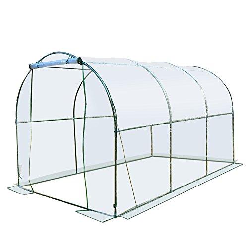 Outsunny - serra da giardino per piante a tunnel in pvc, 250 x 200 x 200cm