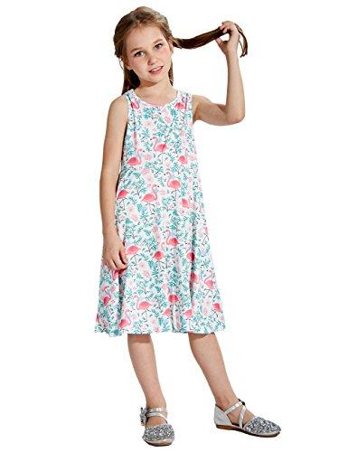 �rmelloses Kleid Flamingo Druck Beiläufig/Partei - Kleid M (Mädchen Verkleiden Sich)