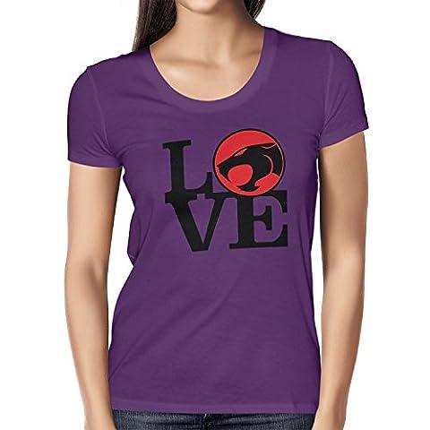 TEXLAB - Thunder Love - Damen T-Shirt, Größe M, violett (He-man-kostüm Für Kinder)