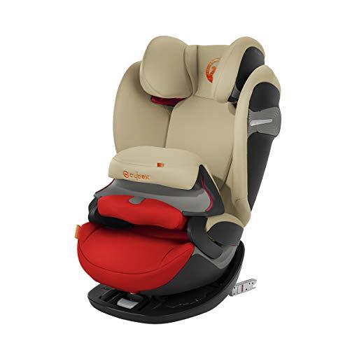 Cybex - Silla de coche grupo 1/2/3 Pallas S-Fix, silla de coche 2 en 1 para niños, para coches con y sin ISOFIX, 9-36 kg, desde los 9 meses hasta los 12 años aprox.Autumn Gold