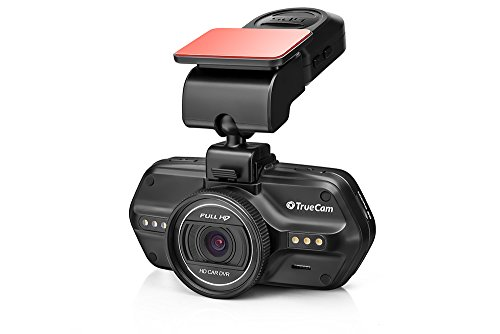 TrueCam A5s GPS Dashcam Autokamera Full HD 1080p mit Blitzerwarner, Endlosschleife, Parkwächter, G-Sensor -