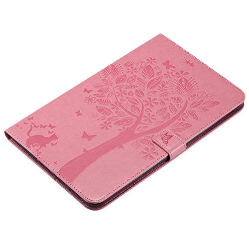Custodia Galaxy Tab E 9.6, Galaxy Tab E 9.6 Flip Case Leather, SainCat Custodia in Pelle Cover per Samsung Galaxy Tab E 9.6 T560/T561, Anti-Scratch Book Style Protettiva Caso PU Leather Flip Portafogl Rosa
