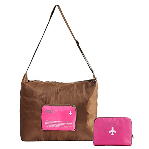 nina-waterproof-foldable-luggage-bag-with-shoulder-straps-for-travel-camping-rose-red