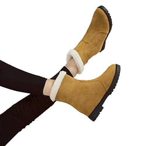 TianWlio Stiefel Frauen Winter Weihnachten Damen Schuhe Stiefeletten Boots Schuhe Lässig Plüsch Warm Flache Stiefeletten Schneestiefel Outdoor Schuhe