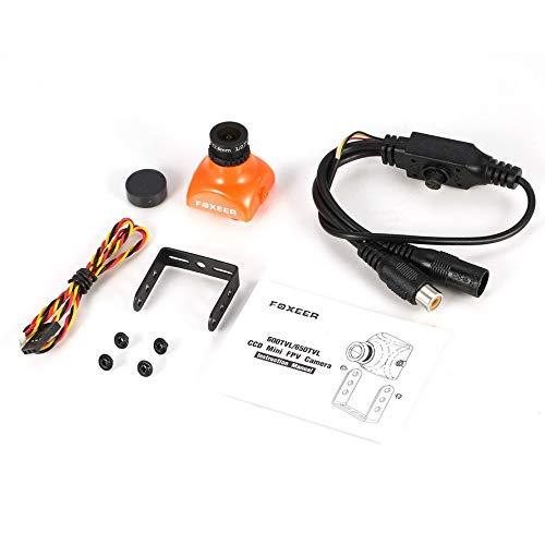 Sony Color-video-kamera (HoganeyVan Foxeer XAT600M 600TVL PAL CCD Mini FPV Kamera Cam mit 2,8 mm Objektiv OSD Menü Hintergrundbeleuchtung IR-Block für DIY RC Racing Drone)