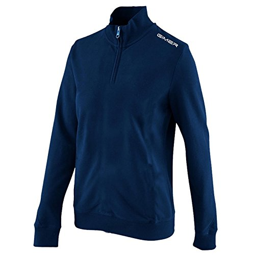 GIMER 2/040, Trikot Fleece 1/2 Zip Unisex Kinder blau