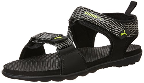 9b5a1e208647 Puma Men s Colaba DP Black and White Rubber Flip-Flops and House ...
