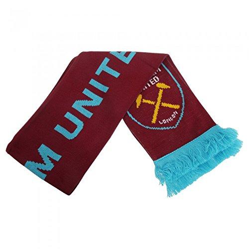 West Ham FC – Bufanda oficial de punto Modelo Crest – Fútbol