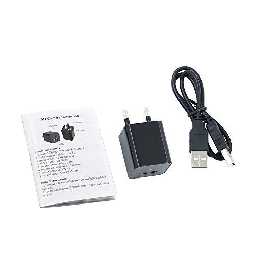 Telecamera Nascosta, UYIKOO 1080P Mini Telecamera Spia USB Caricatore da Parete Adattatore per Videocamera Fotocamera portatile con Rilevazione di Movimento, Fotocamera da 32 GB di Memoria Incorporata - 9