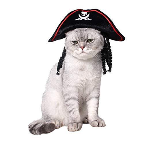 heimtierbedarf Party - Performance - Festival im frühling und Herbst kostüme Dreidimensionale perücke, rote Piraten Katze Hut