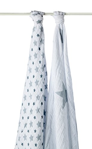 aden + anais 4024G Classic Swaddle Twinkle, 2er pack