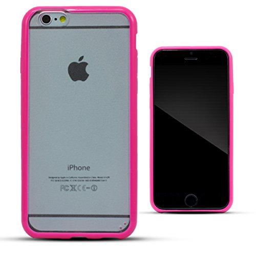 Zooky® Schwarz Hartplastik zweifarbige Schutzhülle / Hülle / Cover für Apple iPhone 6 6S (NICHT iPhone 6 Plus) Rosa