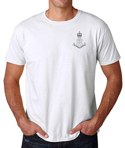 Il Howards Verde Ricamato Logo–Ufficiale dell' esercito britannico Ringspun cotone t shirt da militare online White