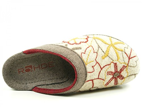 Rohde Damen 2289 Pantoffeln Beige