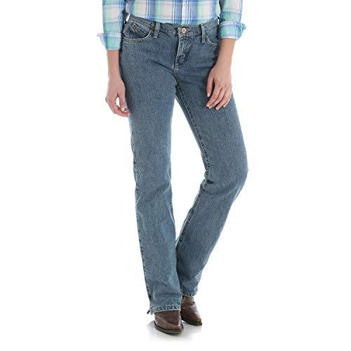 Wrangler Damen Cash Mid Rise Vented Hem Ultimate Riding Jeans, Rr Wash, 19W x 34L