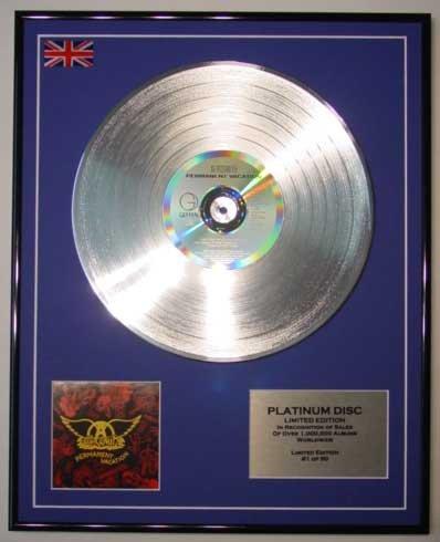 AEROSMITH/Limitierte Edition Platin Schallplatte/PERMANENT VACATION (Aerosmith Sammlerstücke)
