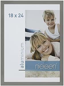 Nielsen 61935 C2 Cadre Photo Aluminium Brossé Gris Mat 24 x 18 x 2,8 cm