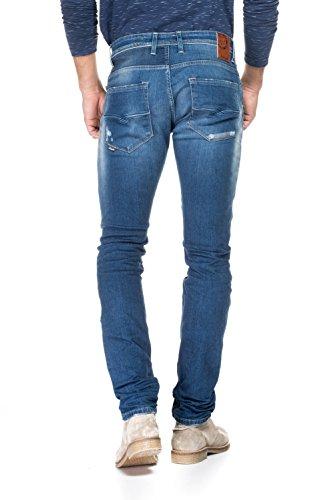 Salsa - Jeans Lima, mit Einsätzen und Flicken - Herren Blau