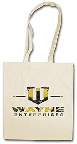 WAYNE ENTERPRISES LOGO Réutilisable Pochette Sac De Courses en Coton Hipster Reusable Shopping Bagg - Wayne Symbol Bale Batman Christian Bruce Gotham
