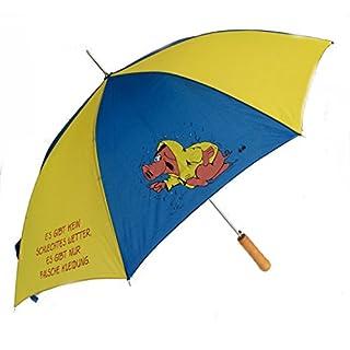 AS4HOME Uli Stein Schwein Regenschirm Es gibt kein schlechtes Wetter - Stockschirm