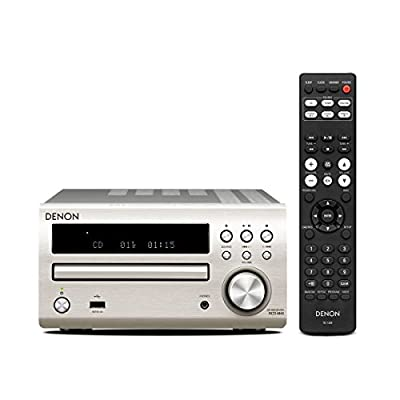 Denon RCD-M40 Sintoamplificatore e Lettore CD, Argento in offerta da Polaris Audio Hi Fi