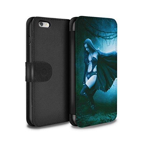 Officiel Elena Dudina Coque/Etui/Housse Cuir PU Case/Cover pour Apple iPhone 6+/Plus 5.5 / Vent/Orage/Forêt Design / Magie Noire Collection Vent/Orage/Forêt
