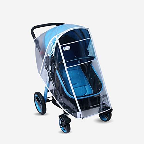Parapioggia universale comfort per passeggini, copertura antipioggia antivento con borsa organizer per conservare oggetti