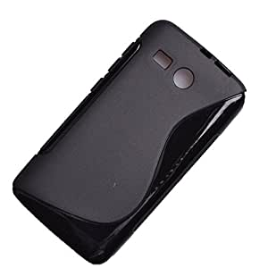 S Case Anti-skid Soft TPU Back Case Cover for Huawei Ascend Y511 (Black)