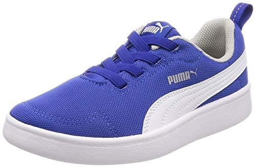 Puma Sneakers Bambino COURTFLEX Mesh PS 364277.15 (33-15 Blue-White)