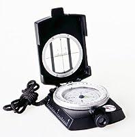 Huntington MG1 Militär Marschkompass / Peilkompass Premium Qualität - professionell flüssigkeitsgedämpft, Metallgehäuse mit Prisma-Linsensystem, verschiedene Farben (mattschwarz oder militärgrün) - The Khan Outdoor & Lifestyle Company