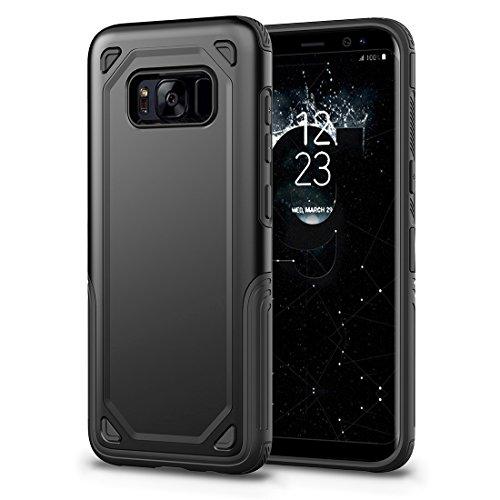 HHF Cases & Covers Für Samsung Galaxy S8 Stoßfest Robuste Rüstung Schutzhülle (Color : Black) -