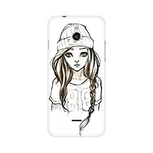Mobicture Girl Swag Premium Printed High Quality Polycarbonate Hard Back Case Cover for InFocus M2 With Edge to Edge Printing