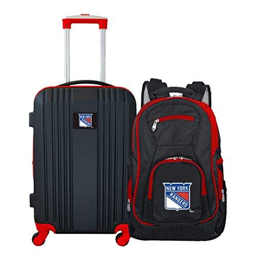 DENCO NHL New York Rangers 2-Piece Luggage Set