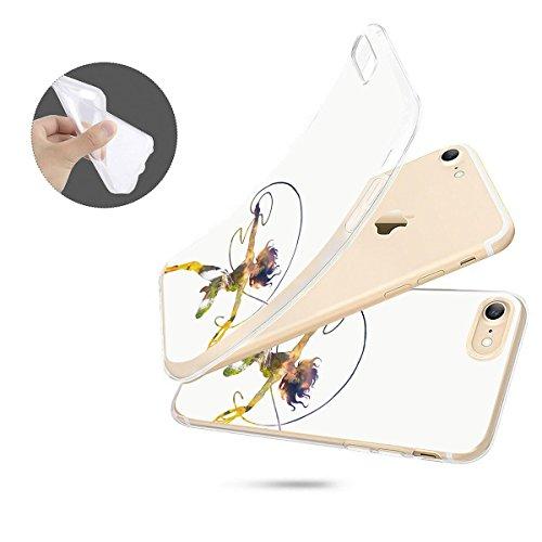 finoo | iPhone 8 Plus Weiche flexible Silikon-Handy-Hülle | Transparente TPU Cover Schale mit Motiv | Tasche Case Etui mit Ultra Slim Rundum-schutz |Portrait Color smile Lasso Waterfall