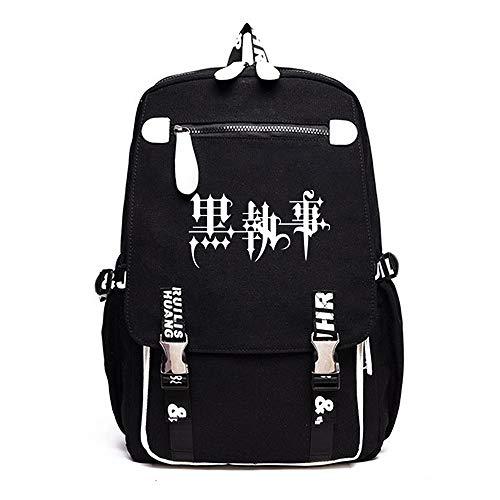 Vokaer Schwarzer Diakon-Schwarz-Butler-Muster-Tendenz-Rucksack-im Freienreisetasche Kursteilnehmer-Tasche,Black3 (Butler Kostüm Muster)